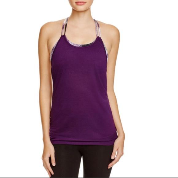 ALO Yoga Tops - ALO Yoga Lia Tank Top Purple Layered Built-In Bra